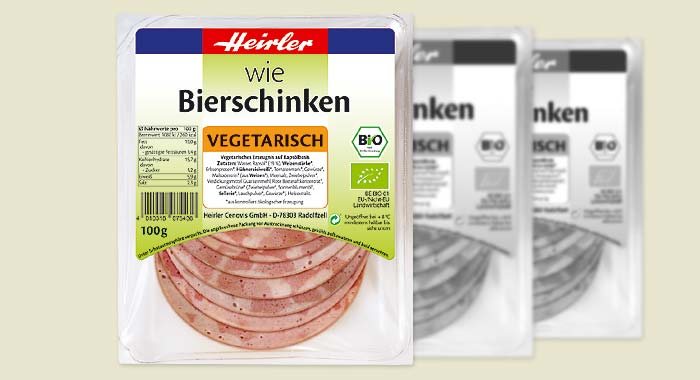 "vegetarischer ""Wie Bierschinken, bio"""